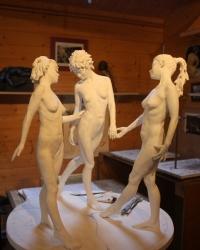 Les trois graces en plâtre – Photo 01