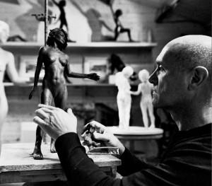 Didier Becquart sculptant 07