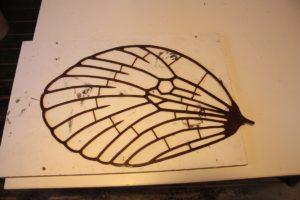 Métamorphose IV - Aile du Papillon en cire.