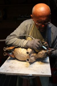 Ciselage du bronze - Rhinocéros 3